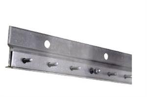 Strip curtain mounting bars. Hanging bar for strip curtains in stock.