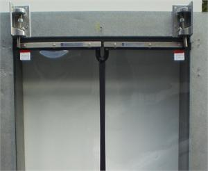 270 Degree Swing Door Hinges for Clear Vu Doors. Traffic Doors and More with Clear Swing Door for walk in coolers.