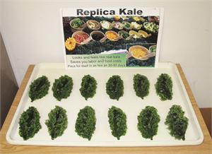 Replica Kale, Plastic Kale For Display. Artificial Foods and Fake Kale is In Stock.