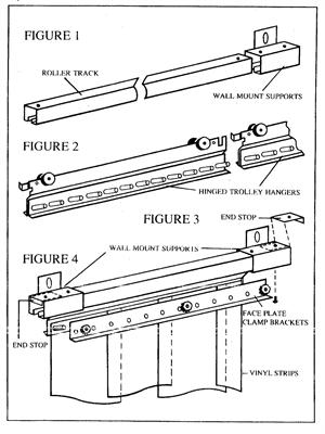 slide open strip curtain drawings.