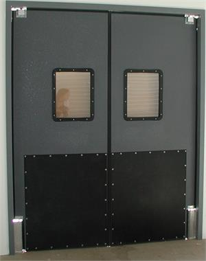 Ruff Tuff Doors, Traffic door with impact plates. Ruff Tuff Doors On Sale.