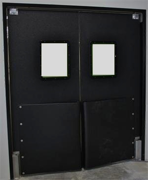 Ruff Tuff Door, Swinging Door For Grocery Traffic Doors With Bumpers. Ruff Tuff Impact Doors.
