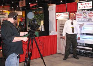 Video shoot Randy Wall at The Pizza Expo Show.