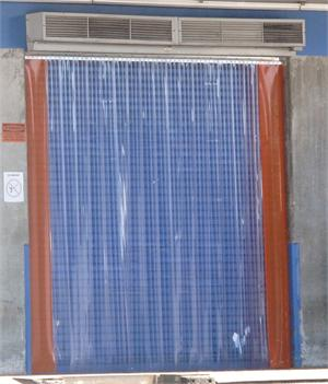 Plastic strip curtain with orange pvc side strips on dock doors On Sale.