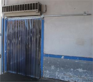 Slide Open Plastic Strip Curtain Doors Kits. Plastic strip curtains slide open on roller track.
