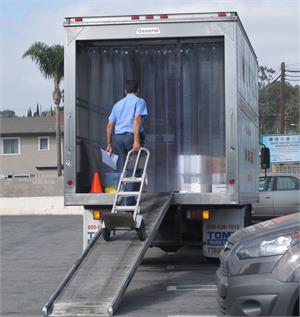 Truck Strip Curtains Deliver Colder Foods. Plastic Strips For Trucks All Sizes.
