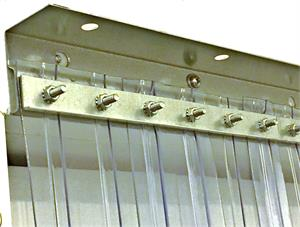 Hanging bar for plastic strip curtains. Traffic doors and more for PVC Strip Door Curtains.
