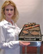 Replica meat for fake food display, plastic meat grilled fake foods in stock.