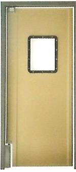 Beige Pro Tuff Door- Tan Restaurant kitchen door. Tan color swing door for restaurants and grocery store doors.