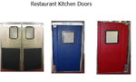 Restaurant kitchen traffic doors on sale. Stainless steel restaurant doors, Pro Tuff series doors.