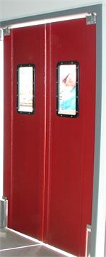 Red Restaurant Kitchen Doors For Sale. Pro Tuff Door- Swinging double door red for restaurant.