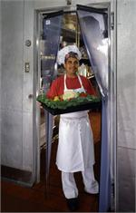 Clear plastic swing door for restaurants walk in coolers. The Clear Vu Door is a clear plastic swinging door.