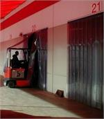 Ribbed Strip Curtains For Forklift Traffic. PVC Strip Curtains In Los Angeles Area.