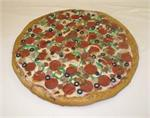 Replica Pizza For Display. Plastic Pizza for fake foods display and fake foods and more.