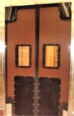 Impact doors for tall openings. V cam doors for tall openings in grocery stores from Traffic Doors and More.