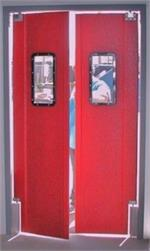 Red Double swing doors door restaurants On Sale.