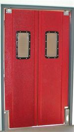 Red Restaurant Kitchen Doors. Pro Tuff Doors are Swinging Double Doors For Restaurants.
