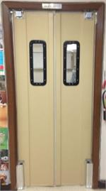 Pro Tuff Door for narrow opening restaurant kitchen door. Double swing door for restaurants.